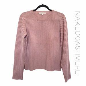 Nakedcashmere Rosewood Ribbed Long Sleeve Sweater